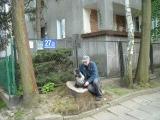 Przed domem Agnieszki Osieckiej